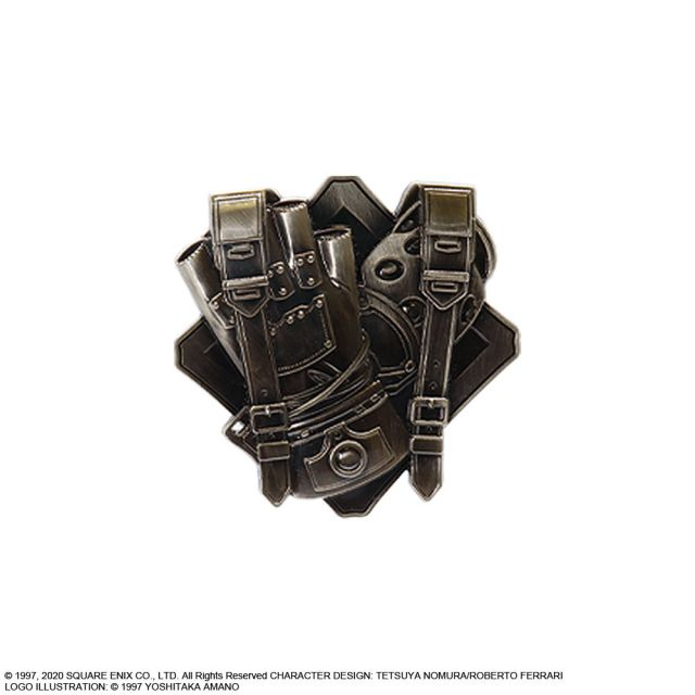 Final Fantasy VII REMAKE PIN BADGE SHINRA lottery Kuji D Prize FF7  03//2020